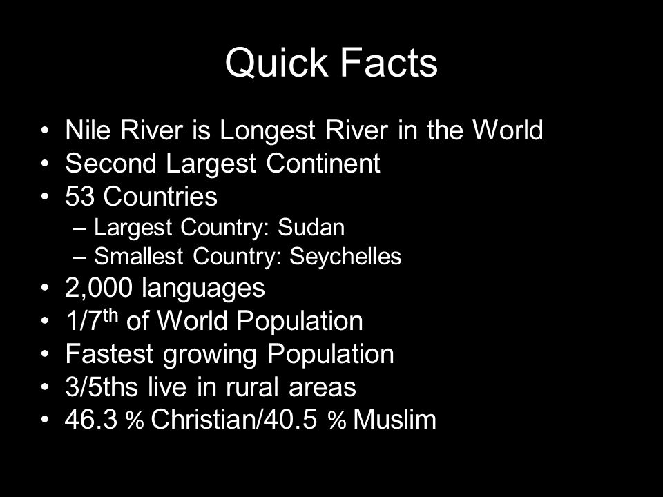 Africa Unit Chapters Ppt Video Online Download - The world's second longest river is on what continent