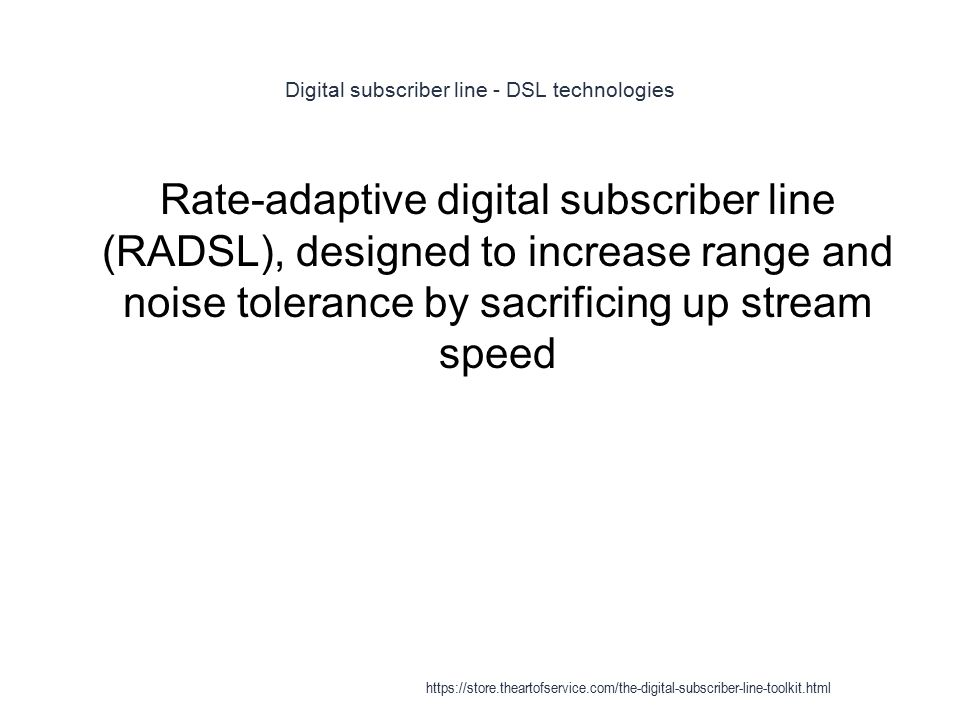 digital subscriber line technologies Xdsl is a catchall name for a variety of dsl (digital subscriber line)  technologies developed to offer phone companies a way into the cable tv  business it isn't.