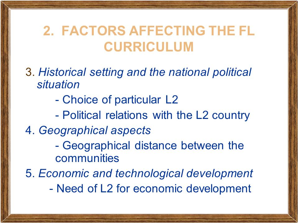 factors considered in curriculum development Curriculum design follows a dynamic trend that is multi-factorial in nature to name a few, we have the environmental, the political, and the social factors to consider in formulating an adaptable curriculum that is reflective of our current needs in the field of education.