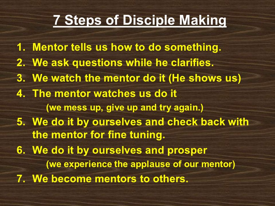7 Steps of Disciple Making