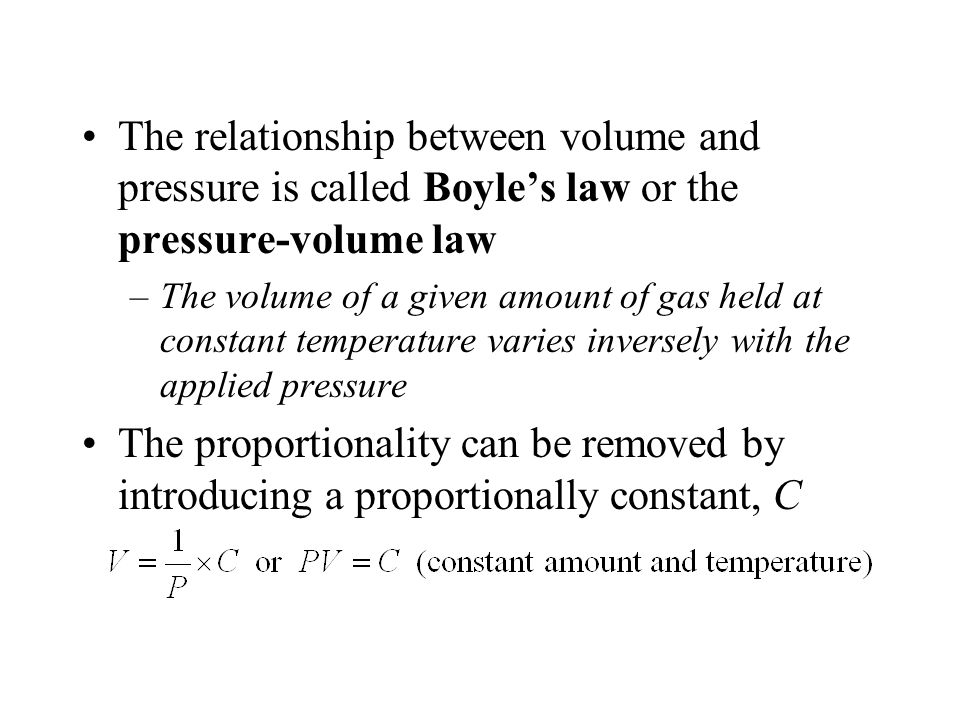 what is the relationship between temperature and pressure called