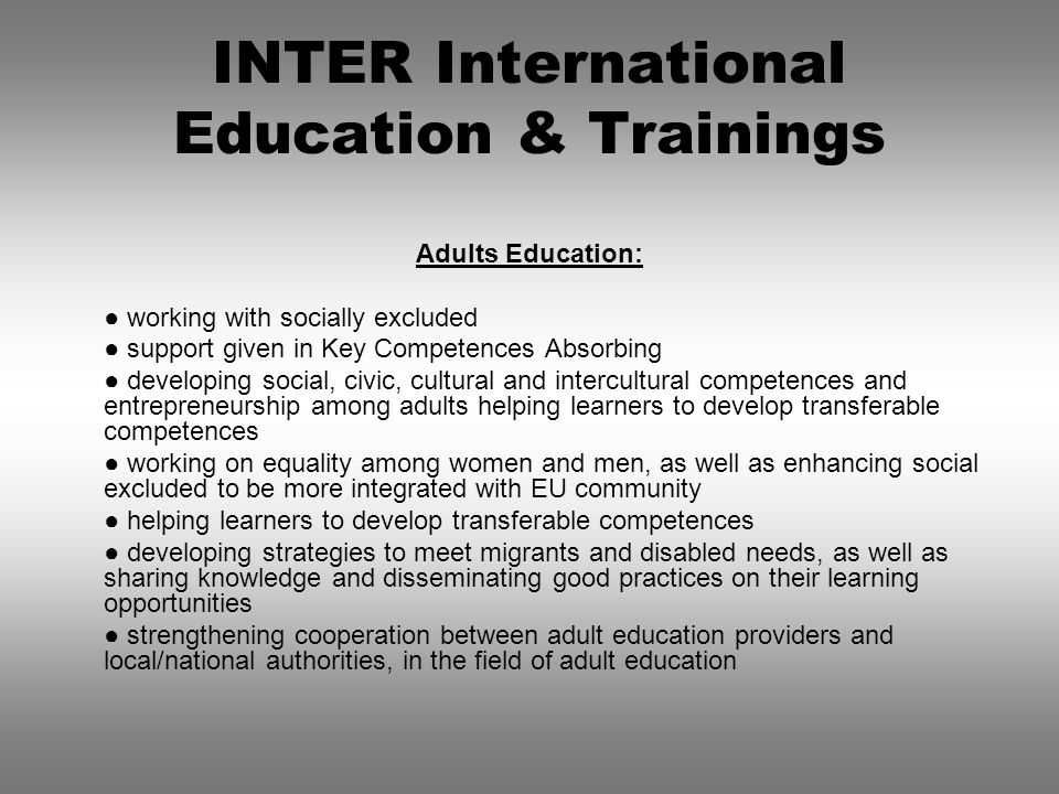 INTER International Education & Trainings