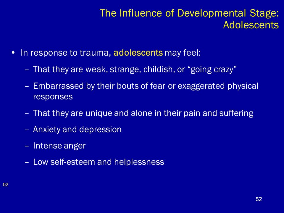 influences on adolescence stage of development Such factors as physical, social, and cognitive develop-ment as well as age as some aspects of adolescent development often continue past the age of 18.