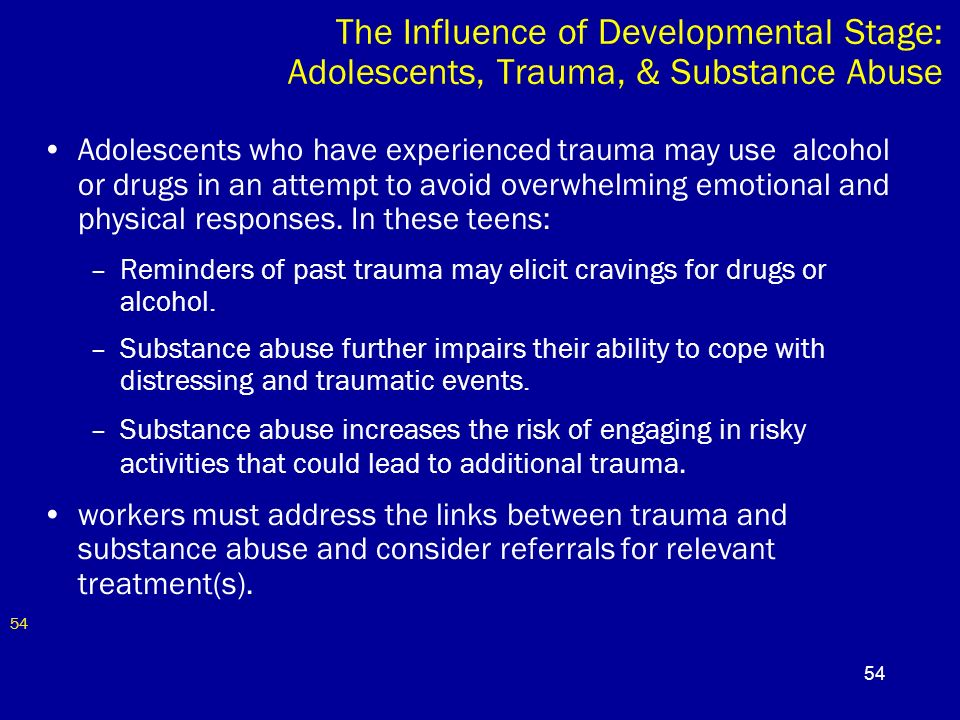 substance abuse and treatment for adolescents Journal description the journal of child & adolescent substance abuse has expanded its coverage to include the treatment of substance abuse in all ages of children.