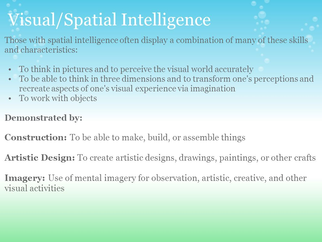 Images of Visual And Spatial Intelligence - #rock-cafe