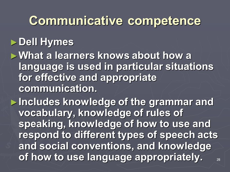 On Developing Communicative Competence Essay