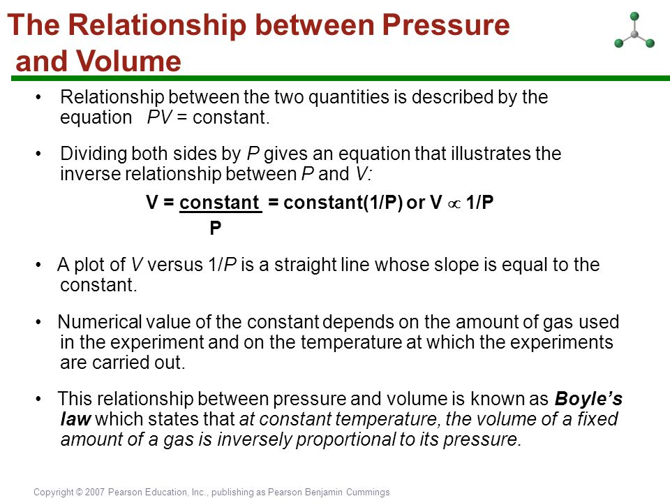 air pressure and temperature relationship in gases