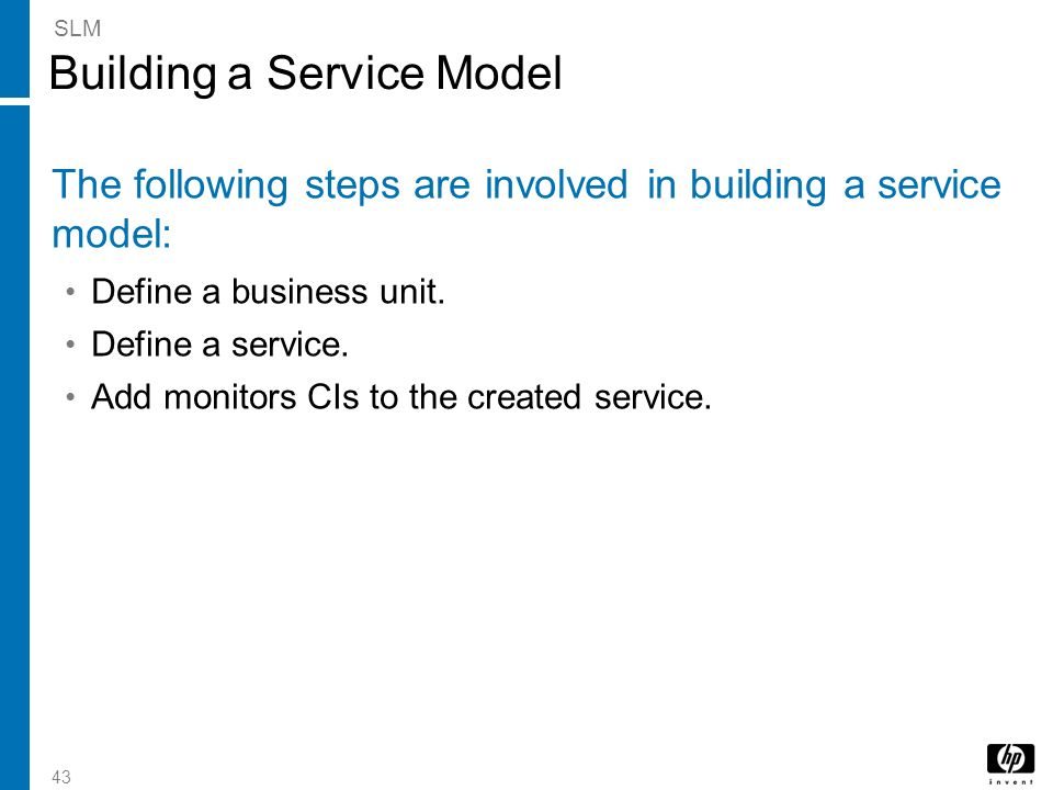 Building a Service Model