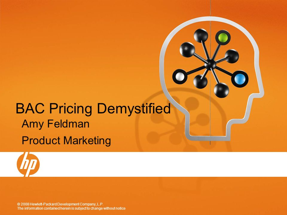 BAC Pricing Demystified