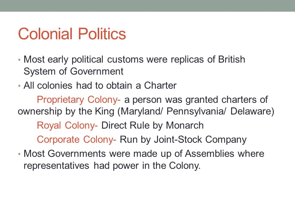 The Early American Colonies - ppt download