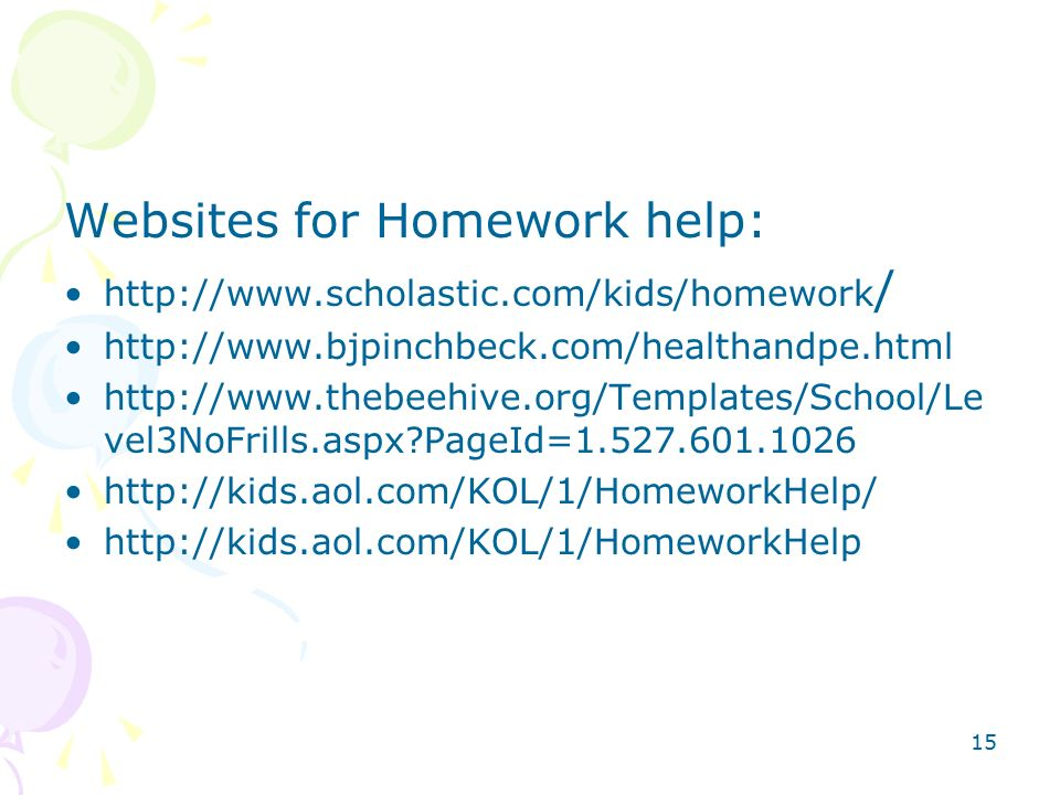 help with homework websites Webmath is designed to help you solve your math problems composed of forms to fill-in and then returns analysis of a problem and, when possible, provides a step-by.