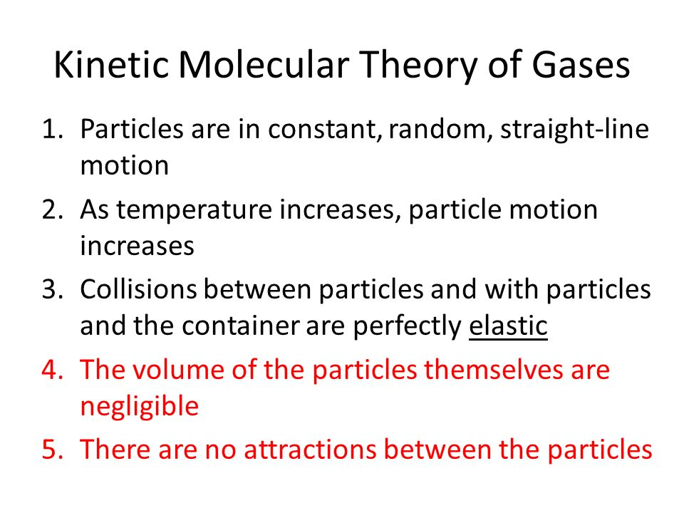 Gas Aim 1 If we make rules about how gases behave what truths – Kinetic Molecular Theory of Gases Worksheet