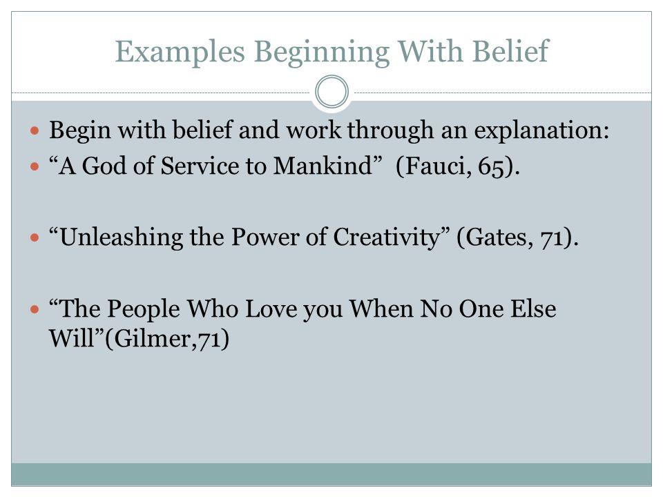 Essay On Belief