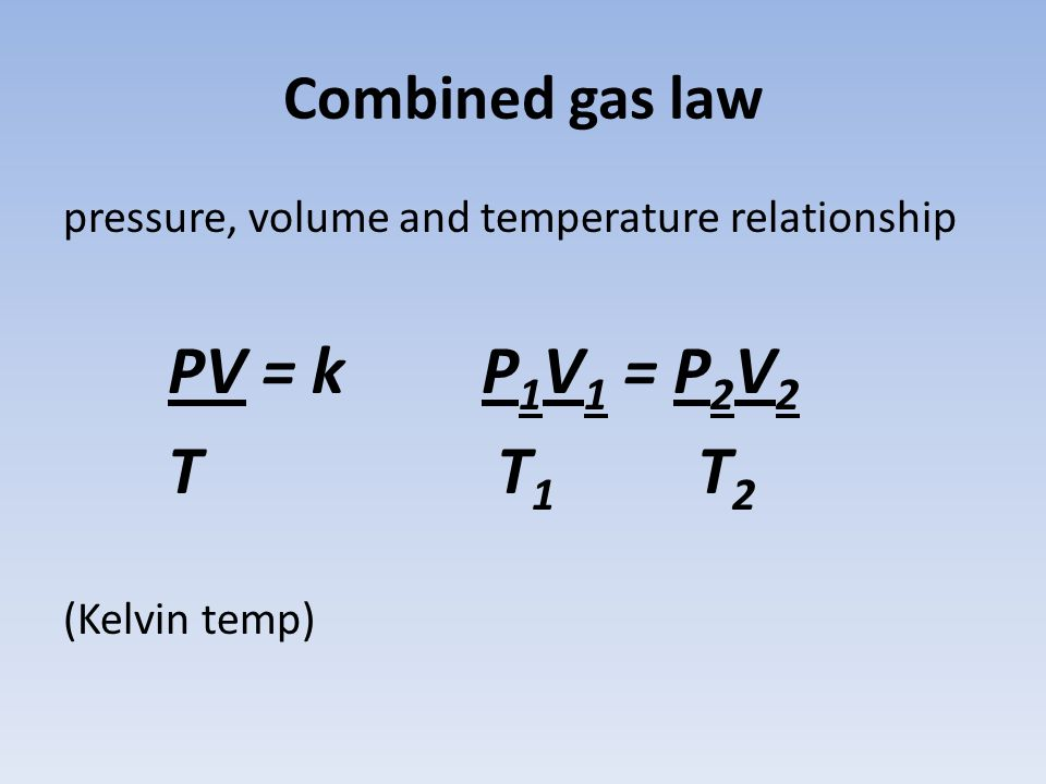 volume pressure and temperature relationship law