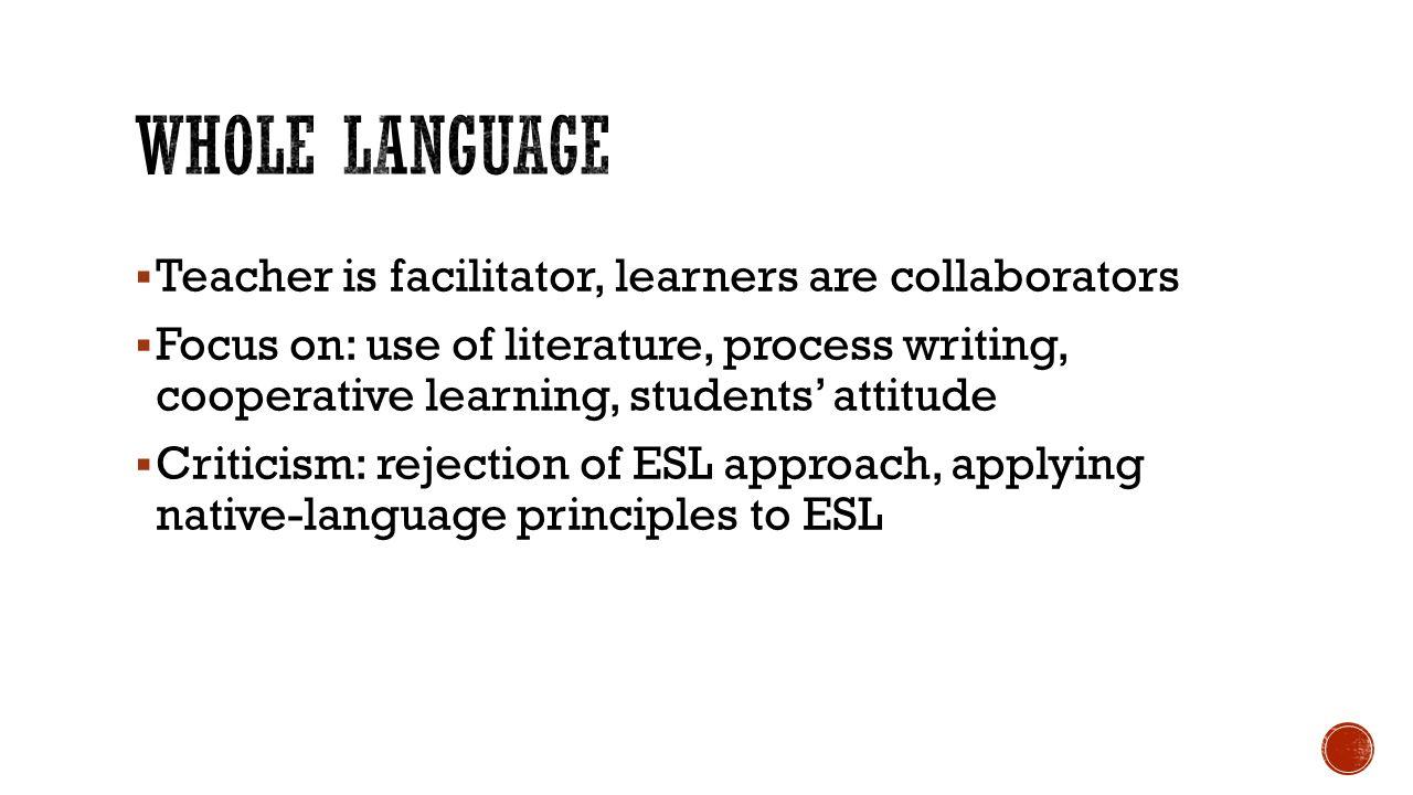 the whole language approach pdf