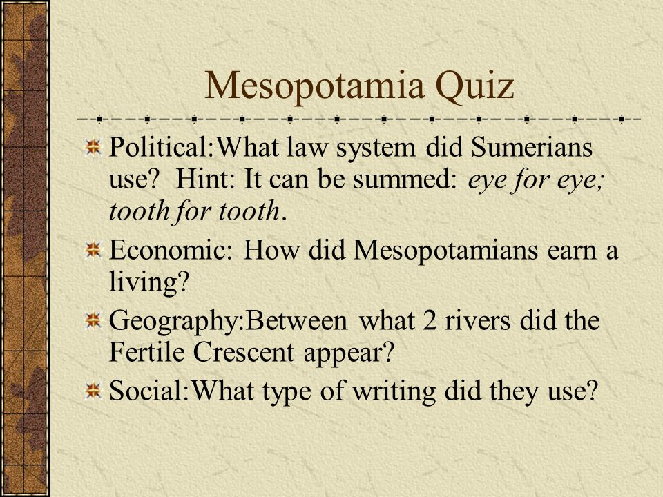 questions on mesopotamia Short answer and essay questions explain this process what are the variables that maisels feels are key in this process in mesopotamia.