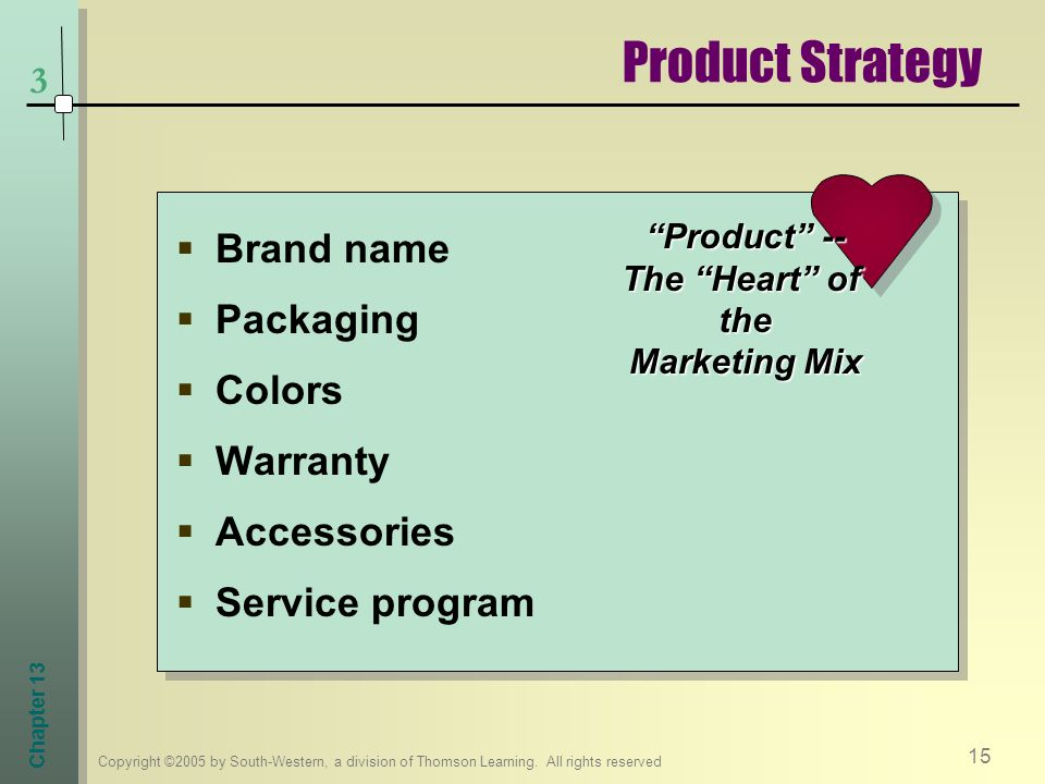 Product -- The Heart of the Marketing Mix