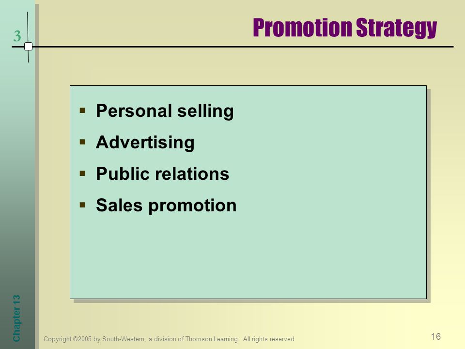 Promotion Strategy Personal selling Advertising Public relations