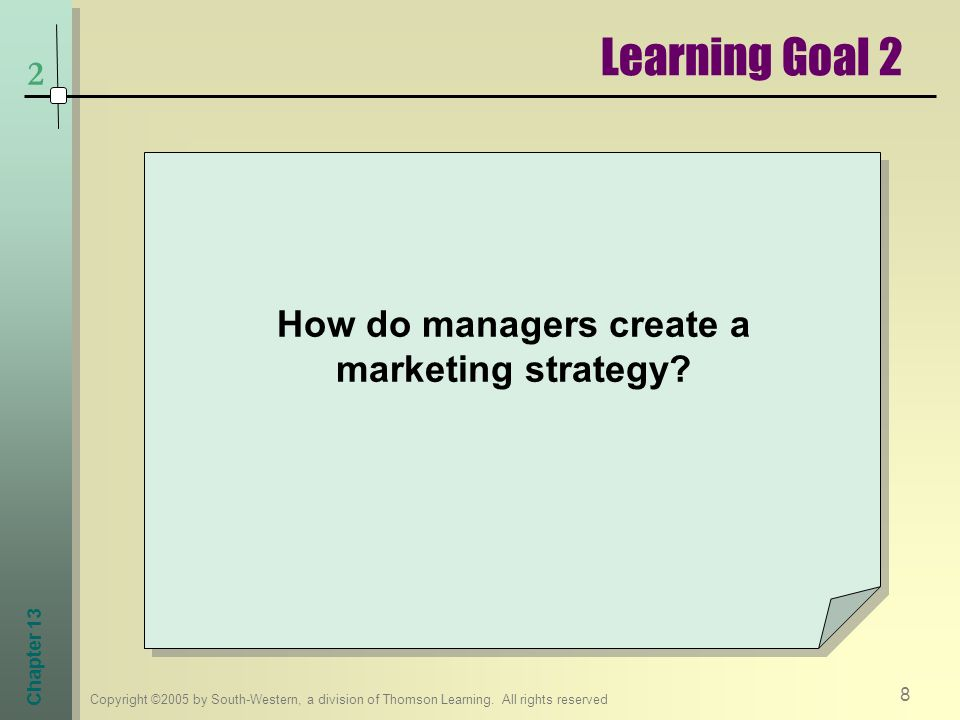 How do managers create a marketing strategy