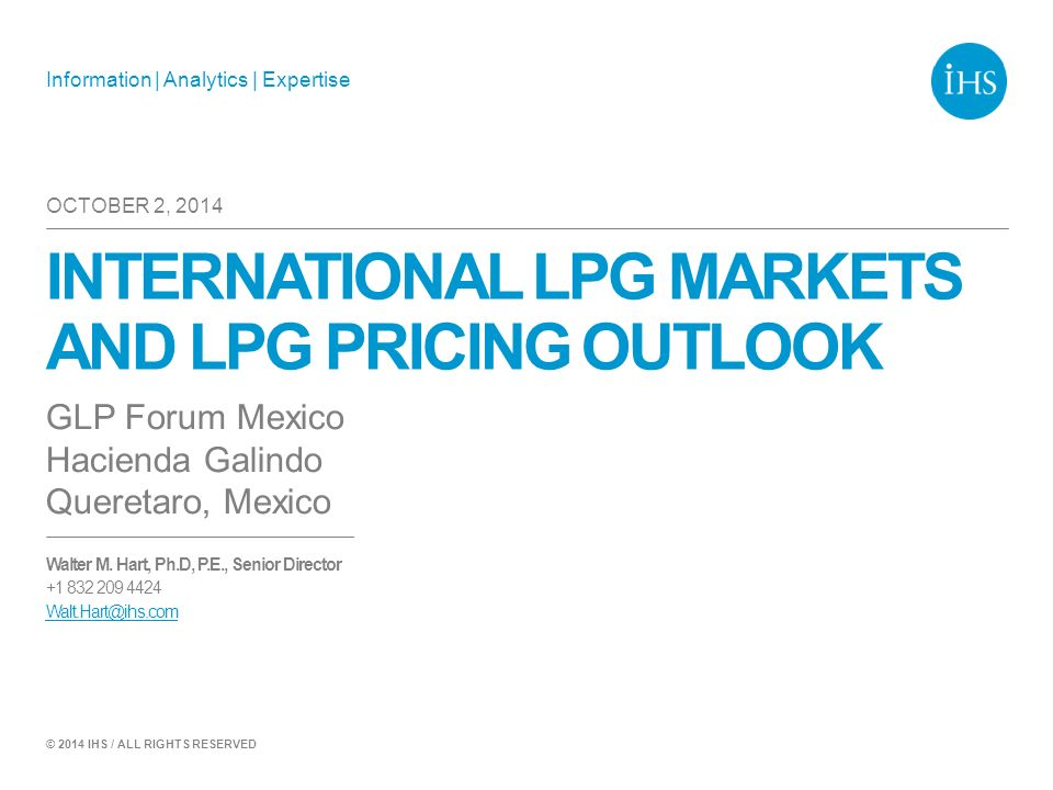 International LPG markets and LPG pricing outlook - ppt