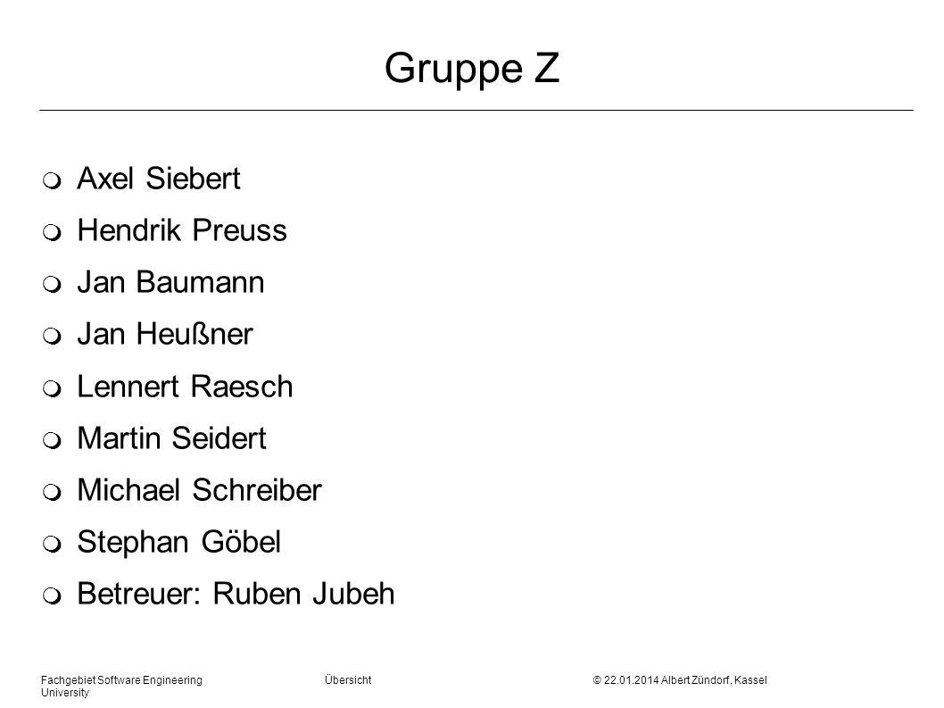 Gruppe Z Axel Siebert Hendrik Preuss Jan Baumann Jan Heußner