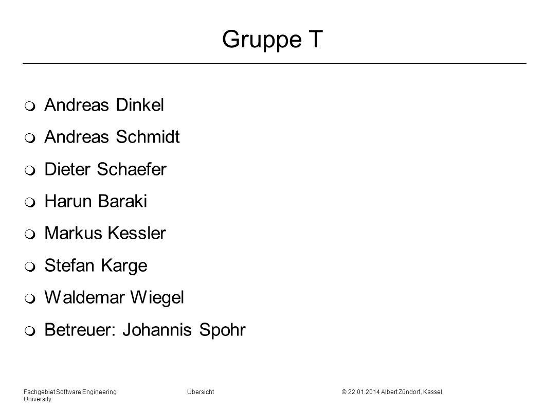 Gruppe T Andreas Dinkel Andreas Schmidt Dieter Schaefer Harun Baraki
