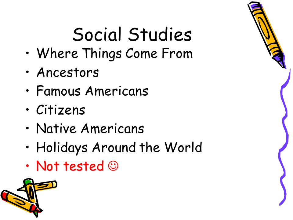 Social Studies Where Things Come From Ancestors Famous Americans