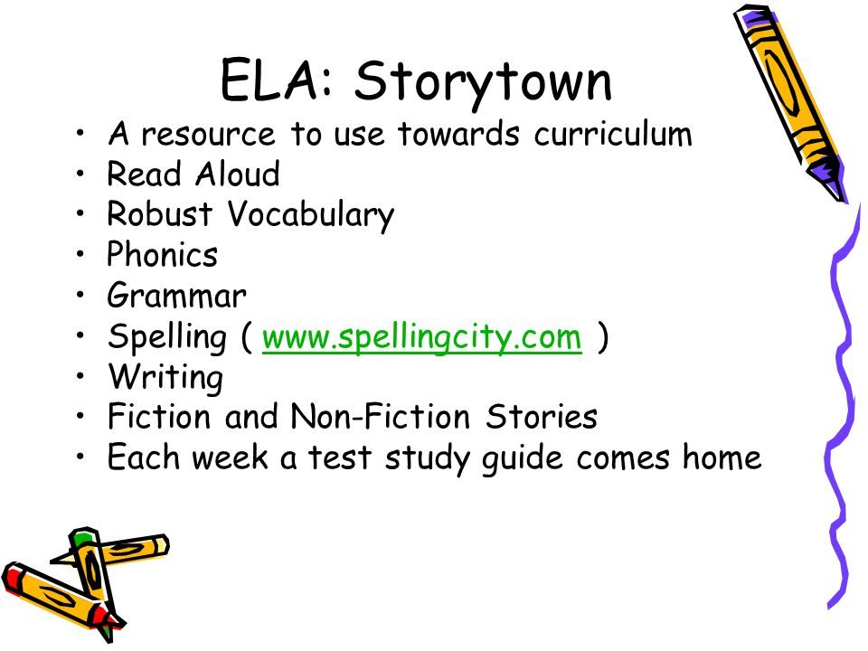 ELA: Storytown A resource to use towards curriculum Read Aloud