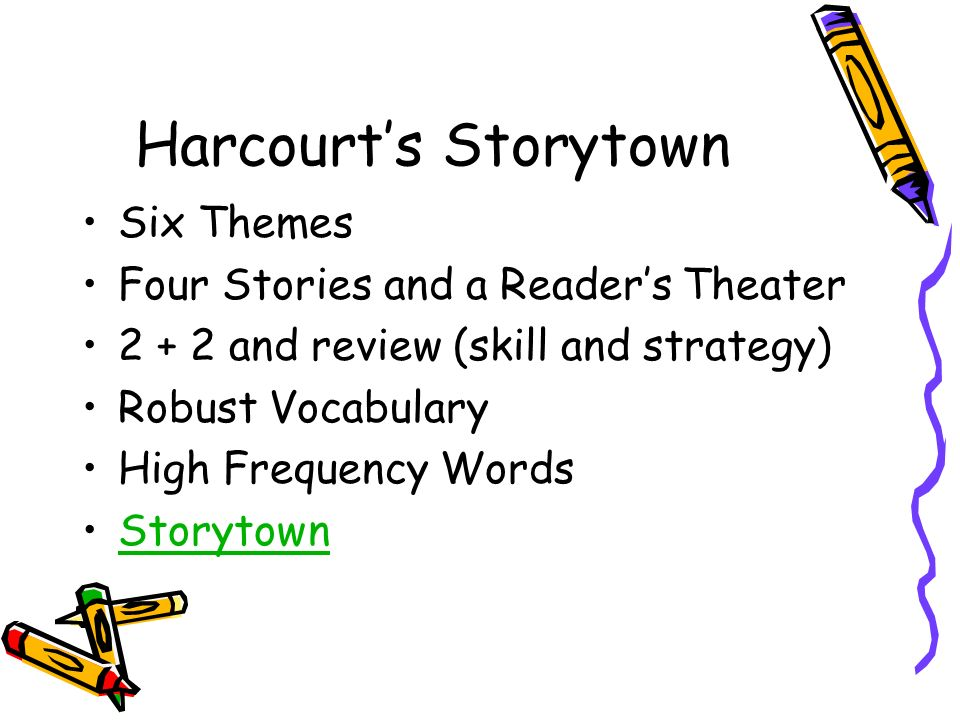 Harcourt's Storytown Six Themes Four Stories and a Reader's Theater