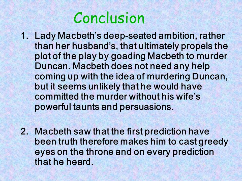 macbeth what is the relationship between macbeth and lady macbeth  conclusion