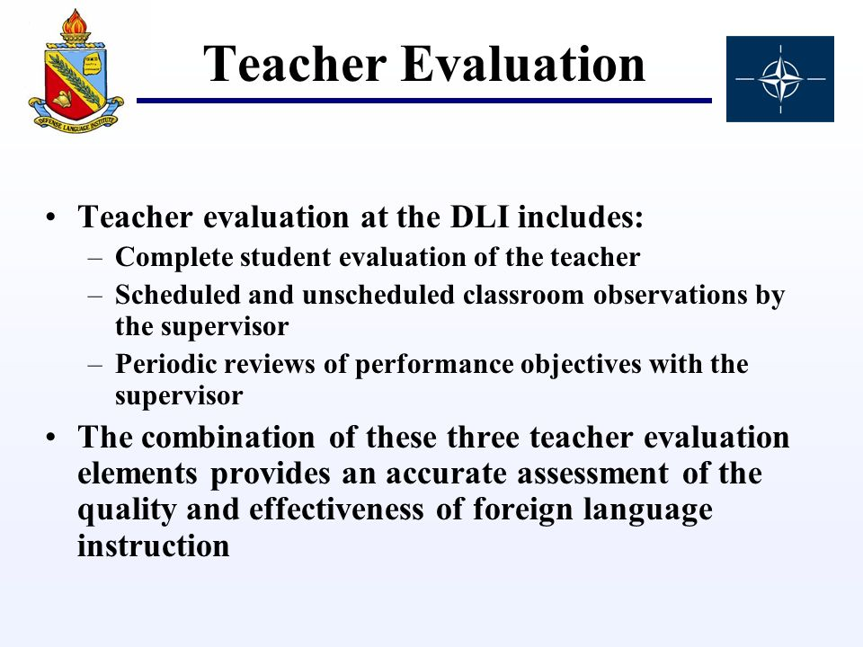 Evaluation At The Defense Language Institute - Ppt Video Online