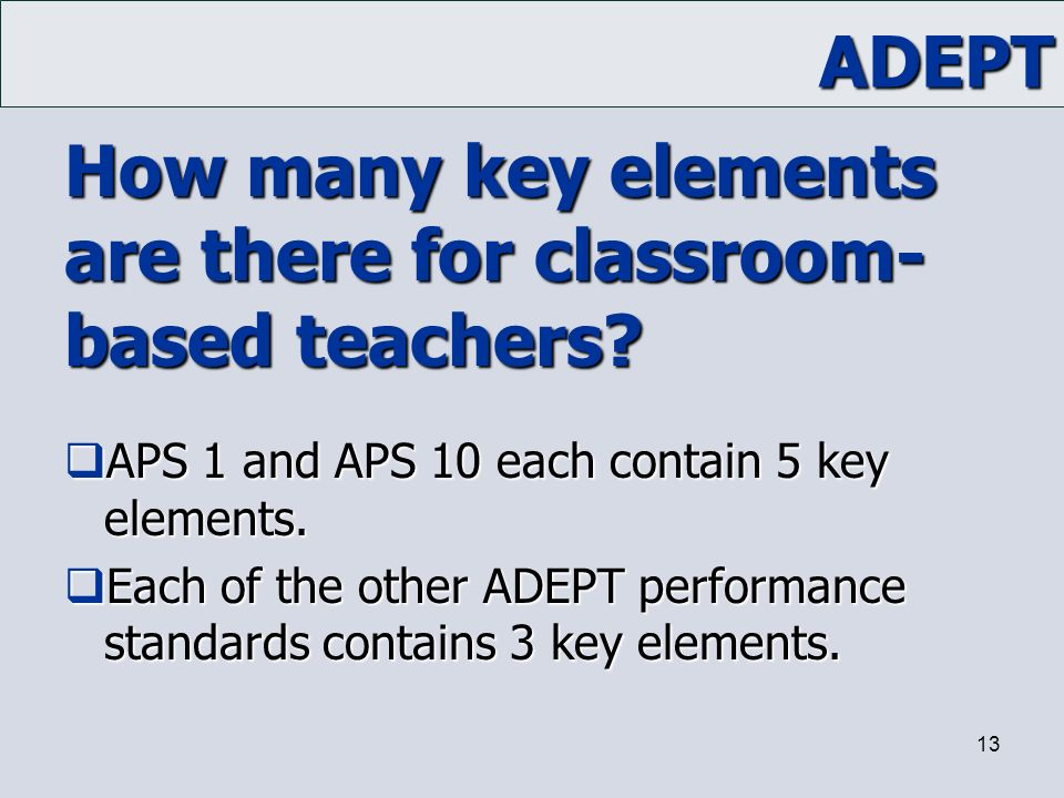 How many key elements are there for classroom-based teachers