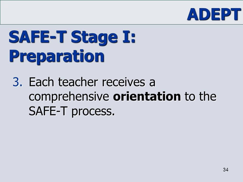 SAFE-T Stage I: Preparation