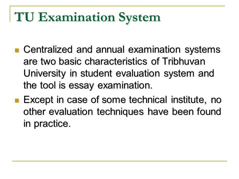 factors influencing examination results in higher education for  tu examination system