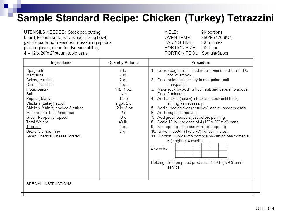 standard recipe card - Etame.mibawa.co