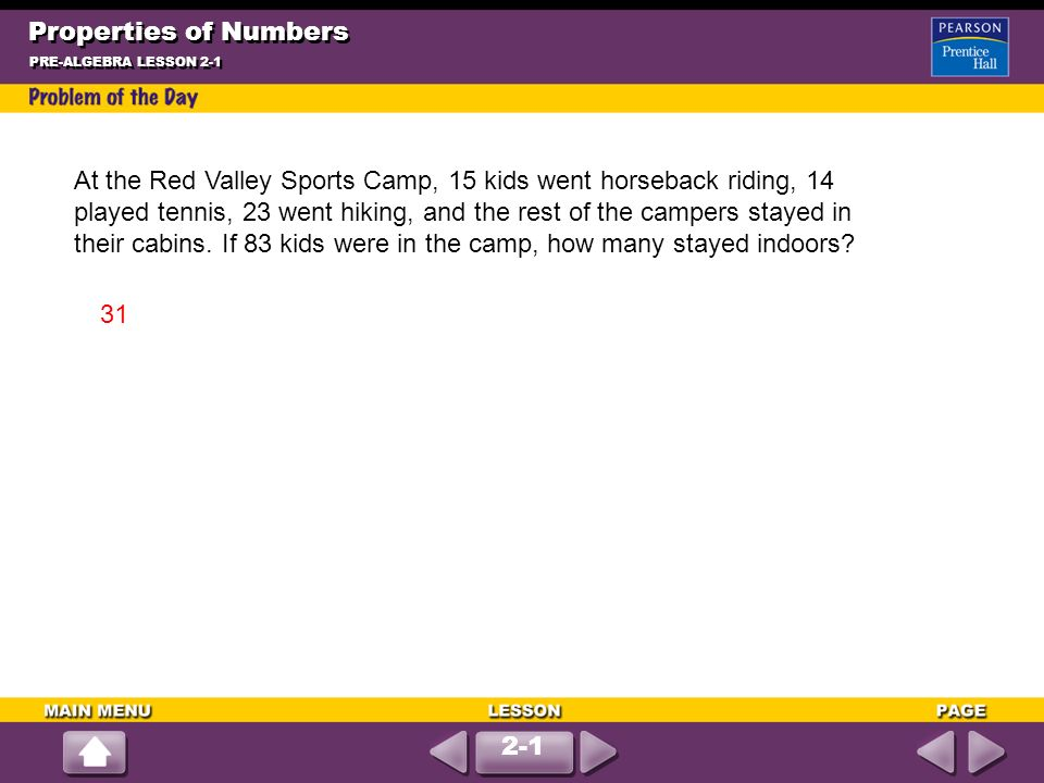 At the Red Valley Sports Camp, 15 kids went horseback riding, ppt ...