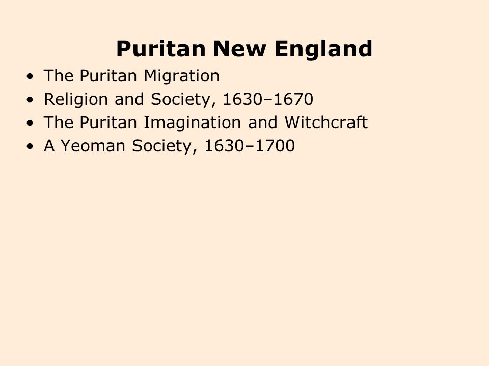 puritan influence 1630s 1660s essay Write an essay in which you evaluate the influence of puritan values on the development of american culture puritan during the 1630s to 1660s.