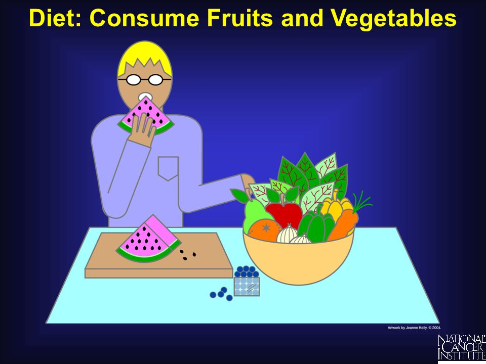 Diet: Consume Fruits and Vegetables
