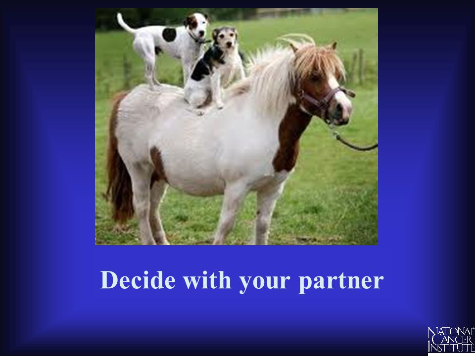 Decide with your partner