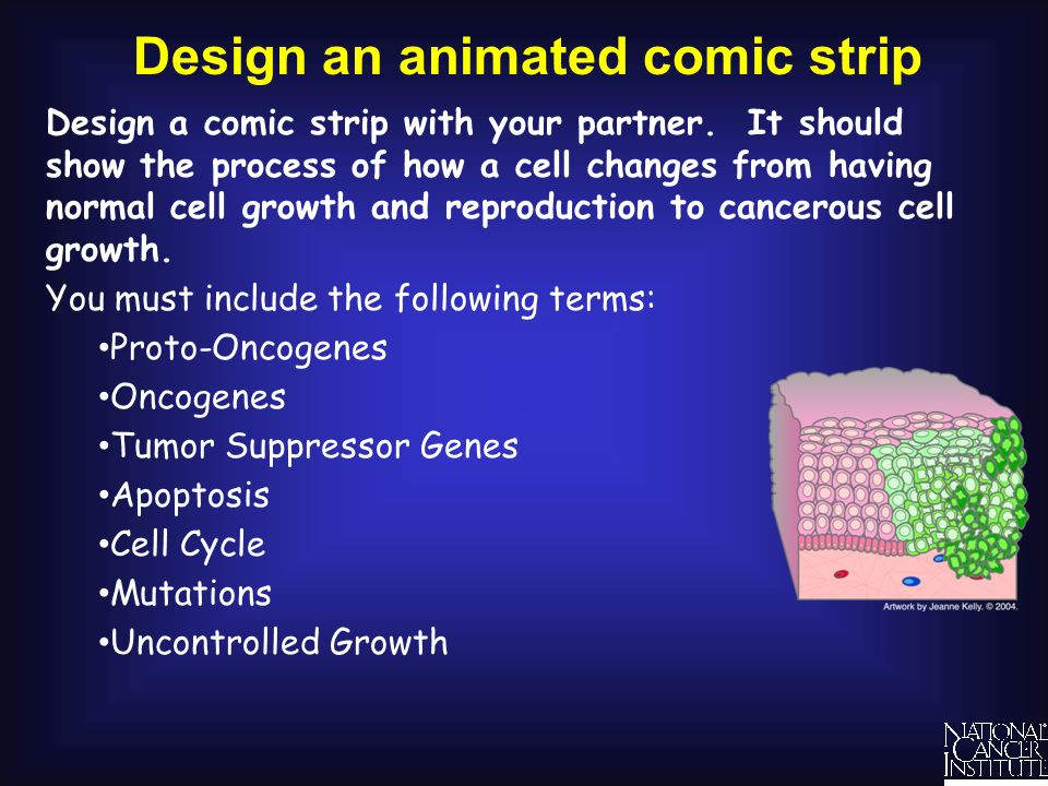 Design an animated comic strip