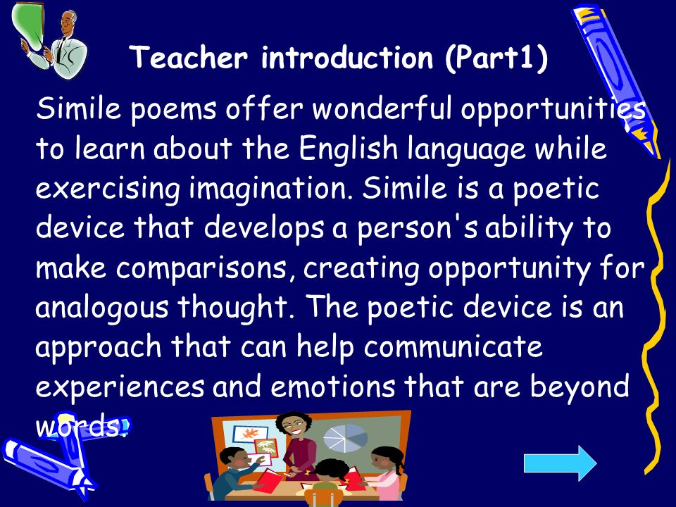 Simile Poems For Kids By Lawraine Guichard Ppt Video Online Download