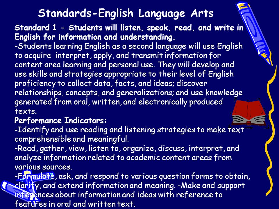 learning and using standard english Using learning targets to differentiate instruction  decisions about further learning learning targets, when shared with and used by both halves of the classroom.