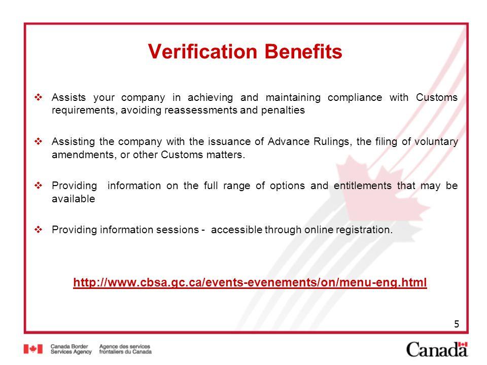 Verification Benefits