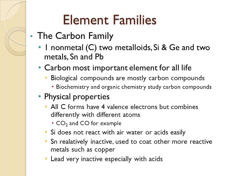 element families The periodic table of elements, usually shortened to just the periodic table is a tabular arrangement of the chemical elements, ordered by their atomic number, electron configuration, and.