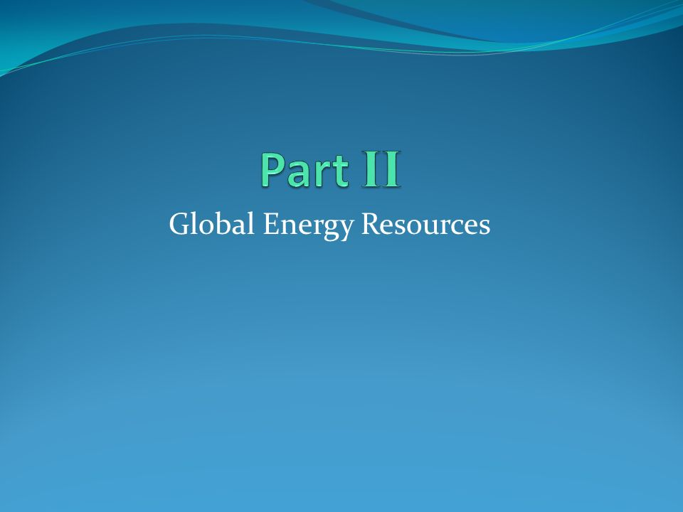 Global Energy Resources