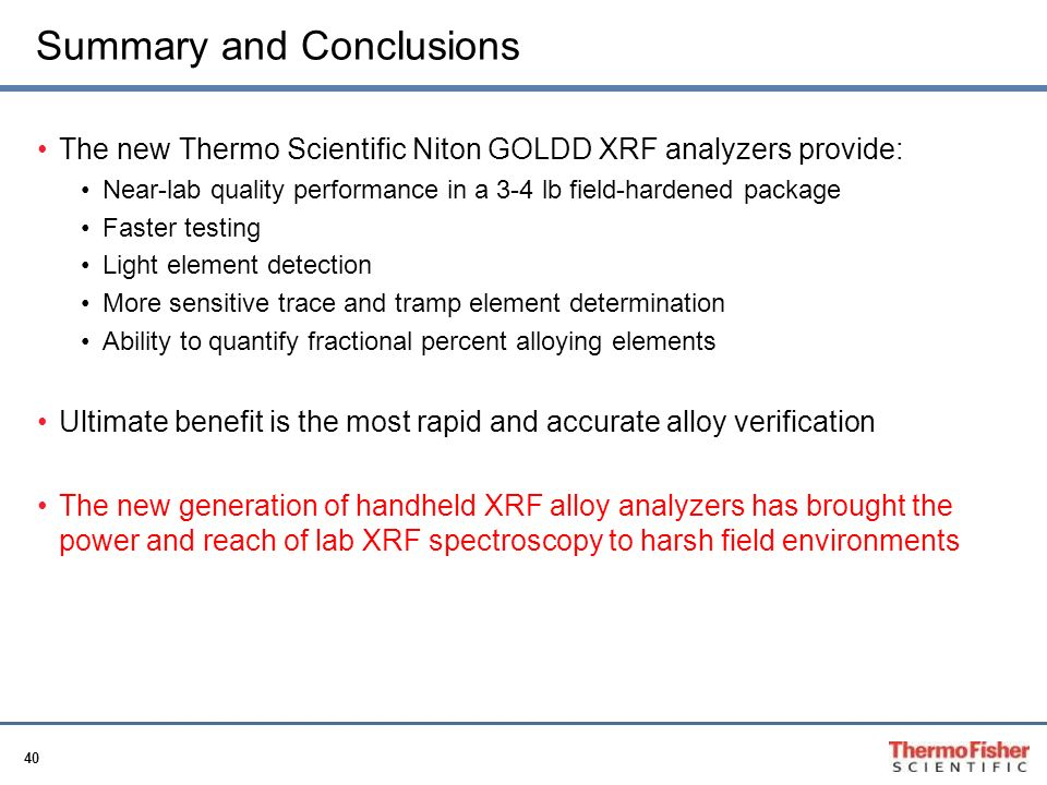 Handheld x ray fluorescence for pmi ppt video online download summary and conclusions urtaz Images