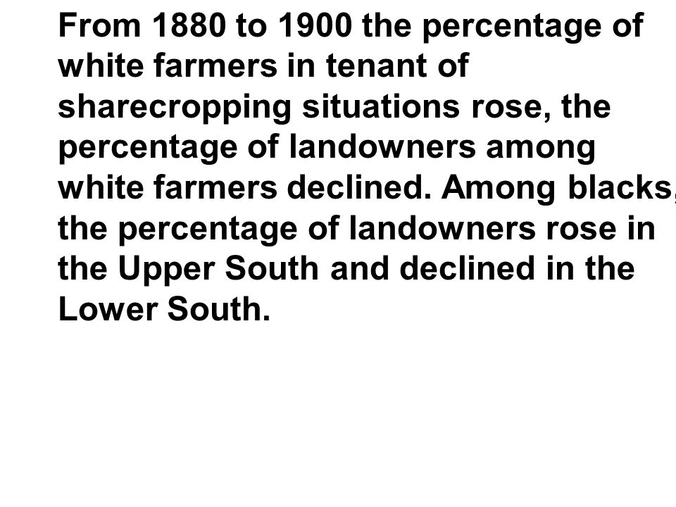 From 1880 to 1900 the percentage of