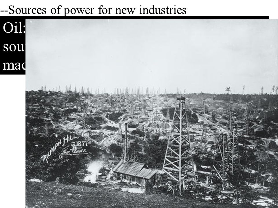 --Sources of power for new industries