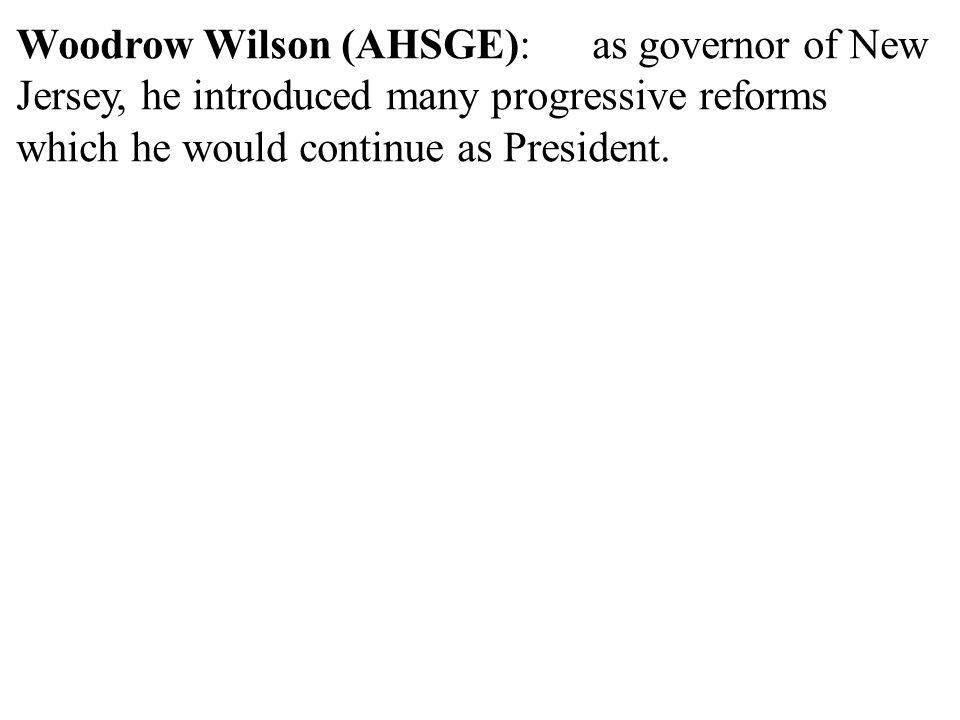 Woodrow Wilson (AHSGE):