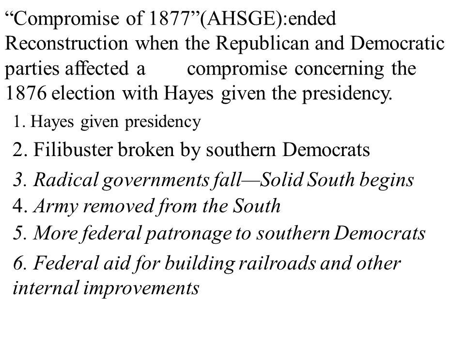 2. Filibuster broken by southern Democrats